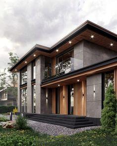 Modern Exterior House Designs, Modern House Facades, Dream House Exterior, Modern Architecture House, Modern House Plans, Architecture Design, Exterior Design, Best Modern House Design, Modern Design