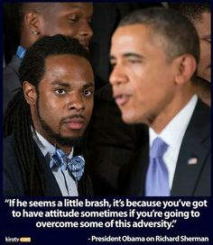 Obama quote on Richard Sherman while Seahawks were honored at the White House