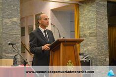 Don Carlos Piñero, Presidente Provincial de Cruz Roja de Tenerife, en su discurso de agradecimiento.