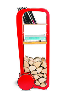Fleimio Trolley (red). Furniture with wheels.