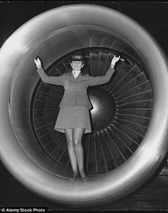 More leg was on show with cabin crew in the 70s, and certain airlines opted to hire fashio...
