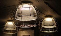 salvaged light fixtures seattle gym cafe https://www.facebook.com/atelierdrome #SeattleArchitecture #SeattleArchitect #Architect #Seattle