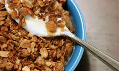Toast oats in a skillet, stir in honey, and add your favorite extra ingredients, for the easiest homemade cereal.