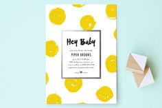 Bold Dots Baby Shower Invitations