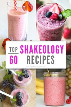Top 60 Shakeology Recipes to Try Today – Rachel Freebairn Fitness - My Top 60 Shakeology Recipes you can try today! 60 recipe ideas so you will never get bored. Shakeology Shakes, Vegan Shakeology, Beachbody Shakeology, Vanilla Shakeology, Chocolate Shakeology, Strawberry Shakeology Recipes, Strawberry Smoothie, Fruit Smoothies, Protein Smoothies