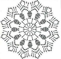 How to crochet a mini umbrella. Supplies: Cotton yarn Crochet hook mm Seed beads Hot glue gun Scissors Topthpicks Long bamboo cocktail stick Using Mandala Au Crochet, Crochet Snowflake Pattern, Crochet Stars, Crochet Snowflakes, Crochet Round, Crochet Home, Crochet Granny, Crochet Stitches Chart, Crochet Symbols