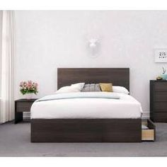 Alaska 3 Piece Full Size Bedroom Set, Ebony - Nexera lines and a touch of contemporary style are the highlights of this Alaska bedroom collection. With Nexera furniture you can personalize your room based on your specific needs since our furn Wood Bed Design, Contemporary Bedroom, Full Size Bedroom Sets, Bed, Furniture, Bedroom Set, Bed Sizes, Kids Bedroom Sets, Bedroom Furniture