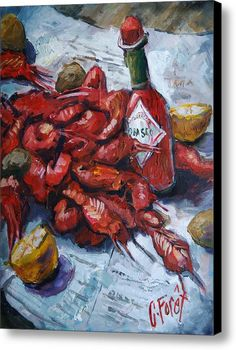 Crawfish Tabasco Canvas Print / Canvas Art By Carole Foret