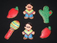 Mexican Themed Cookies by Confetti-American Style Cakes, Cupcakes, & Cookies, via Flickr