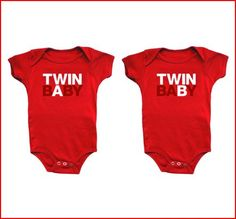 twin baby a and twin baby b onesies