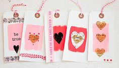 Valentine's Delights by Kristen Robinson - Vintage Tags with 7gypsies Collage Tissue