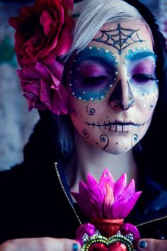 pink+day+of+the+dead+makeup | ... Day of the Dead with Gala Darling!!! | Ashley Spedale's Make Up Blog