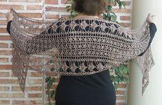 art nouveau crochet scarf