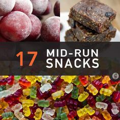 During a long, sweaty run, normal eating rules go out the window. Instead of protein and fiber, the body needs sugars—food that will quickly digest and send energy straight to your muscles. These snacks should help your times and satisfy your sweet tooth! Half Marathon Training, Marathon Running, Half Marathon Tips, Disney Marathon, Half Marathons, Running Food, Disney Running, Trail Running, Running Plans