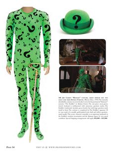 "One of Jim Carrey's 'Riddler' outfits from ""Batman Forever"" (1995)."