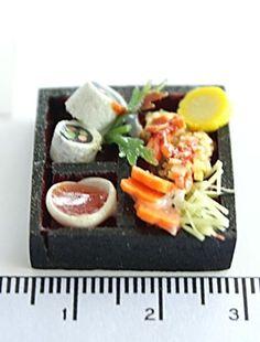 Miniature Foods Polymer Clay Beads Jewelry Sushi by minihandmade, $7.90
