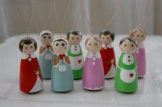 Peg Doll Ornaments