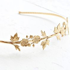 Golden Fairy Flower Headband by NestPrettyThingsShop on Etsy, $36.00