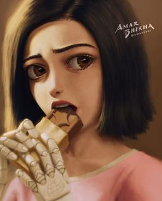 Alita: Battle Angel is a movie starring Rosa Salazar, Christoph Waltz, and Jennifer Connelly. A deactivated female cyborg is revived, but cannot remember anything of her past life and goes on a quest to find out who she is. Alita Movie, Alita Battle Angel Manga, Chocolate Angel, Female Cyborg, Sr1, Profile Photo, User Profile, Fan Art, Ghost In The Shell