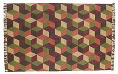 Calistoga Rectangle Kilim Rug 6x9'