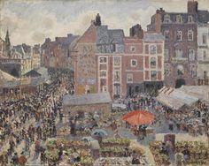 Fair on a Sunny Afternoon, Dieppe, 1901, Camille Pissarro.