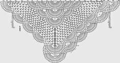 Crochet shawl Pattern. Wonderful model with tutorial and Graphical Free
