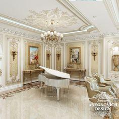 Элитный проект дома с уютной гостиной в классическом стиле от дизайн студии Luxury Antonovich Design