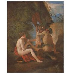 Nymph and Satyr, National Gallery of Ireland, Dublin Nicolas Poussin, National Art Museum, Satyr, Nymphs, Dublin, Oil On Canvas, Drinking, Ireland, Gallery