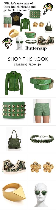 """""""Buttercup"""" by rachel363 ❤ liked on Polyvore featuring Milestone, Dsquared2, Valentino, Rachel Zoe, Linea Pelle, PF Flyers, Hot Diamonds, Tom Binns, The Row and buttercup"""