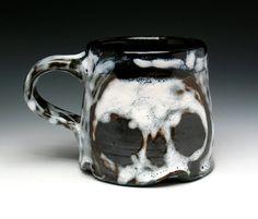 Large Coffee Mug Ceramic Stoneware Skull Cup