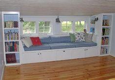 window seat storage bench cushion images | Existence is Wonderful: Window Seat / Storage Bench Project Finished!
