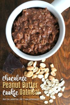 This dairy-free, Energizing Chocolate Peanut Butter Cookie Oatmeal taste like a warm cookie straight out of the oven! No special ingredients. A THM E.