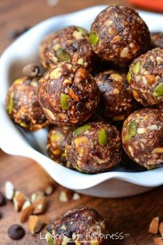 These energy balls are healthy, yet satisfying, and naturally gluten free, made from good-for-you ingredients like almonds, pumpkin seeds, dates, and dried cherries. Here's another easy recipe for you to make on Sunday prep day to enjoy for the week ahead… and it's definitely one of our favorites! I love to get creative in the …