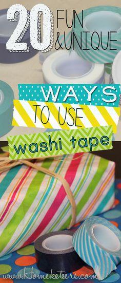 20 Fun  Unique Ways to Use Washi Tape