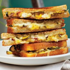 Grilled Ham, Cheese, and Pickle Sandwiches Recipe