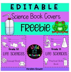 Enjoy these cute biology and science book cover pages by filling in your own book labels, grades and subjects. My kids loved them, and so will yours! Applicable to any grade, any sciences, biology, and STEM notebooks or binders.