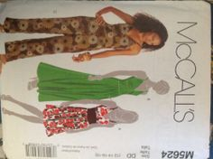 Mccalls M5624 Sewing Pattern for Inset Waist Bodice Back Zip Sleeveless Dress or Jumpsuit in 3-lengths Has Twisted Straps and Bust Gathers by McCalls patterns,http://www.amazon.com/dp/B00BAGFIIC/ref=cm_sw_r_pi_dp_3GVWsb1E2MZAC0RQ
