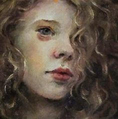 """Oil Painting Original by Moonglance OOAK 4""""x4"""" Small Portrait 