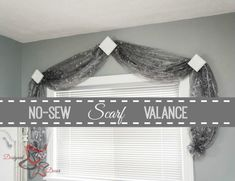 No Sew Scarf Valance- Simple-Window-Coverings