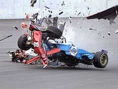 Alex Zanardi survived this horrendous crash and lost his legs as a result.  His positive attitude and drive to survive and make the best of a bad situation make him an inspiration and a hero.  Dr. Steve Olvey was responsible for saving Alex's life.  Both are heroes in my opinion.