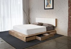 MASH Studios - Storage Platform Queen Bed.  Headboard is also storage!  So much storage!