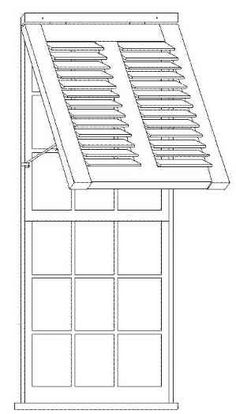 Coach House idea- Bermuda Style Exterior Shutters- Can I figure out a way to use this idea to protect the french door?