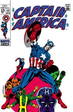 Captain America #111 (Marvel Comics - March 1969) Illustrator: Jim Steranko