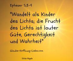 """Licht ermöglicht Leben, Licht lässt uns sehen, Licht vertreibt die Dunkelheit. Licht ist in der Bibel ein Bild für Gott. Gott ist das Licht. Das Licht das uns zum Leben führt. Jesus spricht """"Ich bin das Licht der Welt. Wer mir nachfolgt, der wird nicht wandeln in der Finsternis, sondern wird das Licht des Lebens haben""""Johannes 8,12 In der Welt gibt es beides, Licht und Finsternis. #FrüchtedesLichts #JesusdasLichtderWelt #Leben #Licht #Wahrheit #Weg Johannes, Community, Godly Relationship, Light Of The World, Gods Love"""