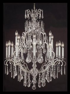 a chandelier with crystals...Amazingly stunning