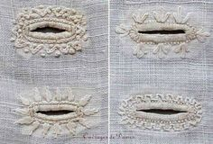 How to embroider a buttonhole like in the 1820s