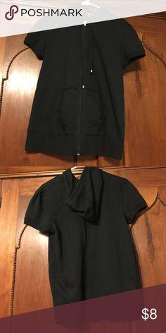 Duo Maternity shirt sleeve zip up hoodie Black shirt sleeve zip up hoodie. Maternity. Jackets & Coats