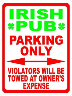 Parking for Polish Only 8x12 Aluminum Sign