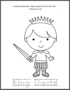 David and jonathan bible activity sheet from www for David and goliath coloring pages for preschoolers
