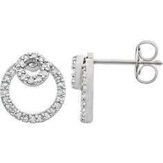 NEW Diamond Circle Earrings | Style 652418